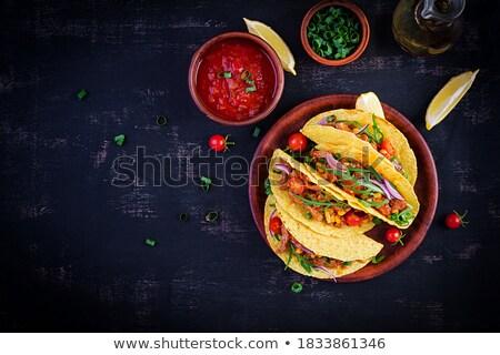 Carne carne tomates almoço vegetal Foto stock © M-studio