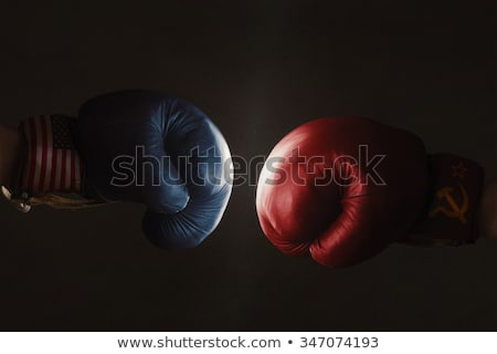 Rusia boxeo amateur boxeador uniforme posando Foto stock © sahua