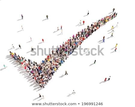 3d osób sprawdzić ocena podpisania biały Zdjęcia stock © Quka