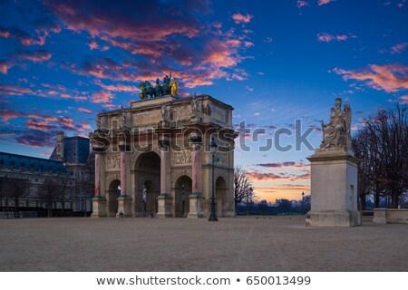 Arc de Triomphe boog tuinen militaire bouw reizen Stockfoto © Roka