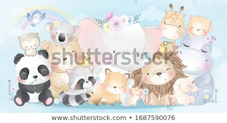 Cute Baby - Cartoon Character - Vector Illustration Stock photo © indiwarm