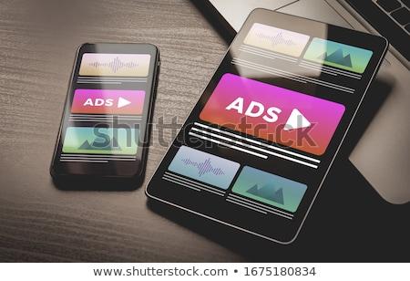 móvel · publicidade · assinar · ilustração · projeto - foto stock © tashatuvango