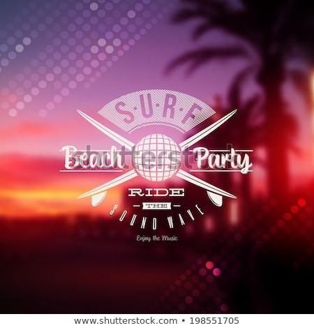 Vector Summer Beach Party Flyer Design with disco ball vector ...