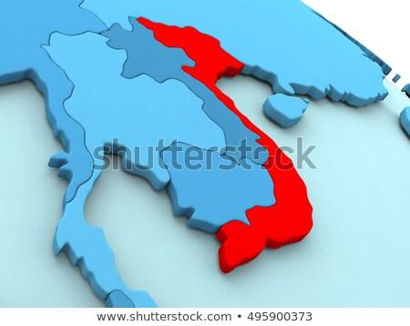 Cumhuriyet Vietnam Asya haritaları ekstra Stok fotoğraf © Vectorminator