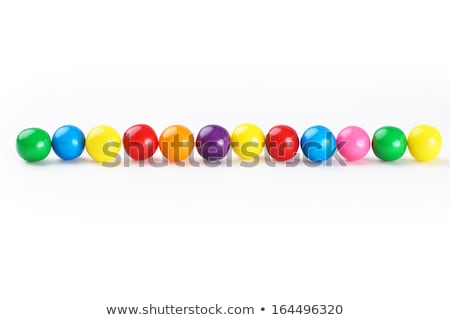 row of  chewing gum balls Stock photo © Grazvydas