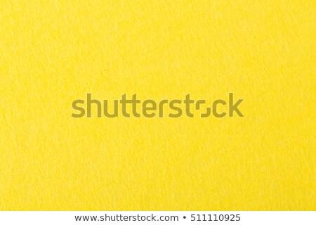 Stock photo: Felt Fabric Texture - Bright Yellow
