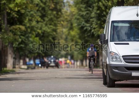 Minibüs yol kenarı turist yan kırsal yol Stok fotoğraf © eldadcarin