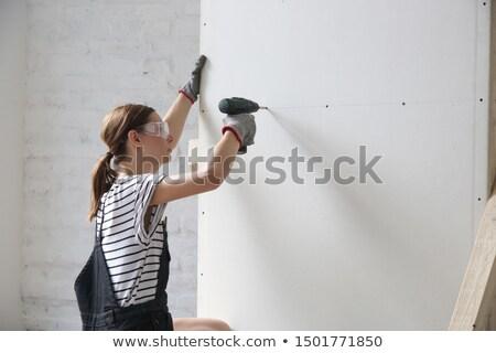 sorrindo · três · de · um · tipo · máquina · reparar · construção · manutenção - foto stock © photography33