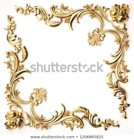 cadre · bijoux · or · ornements · illustration · texture - photo stock © yurkina
