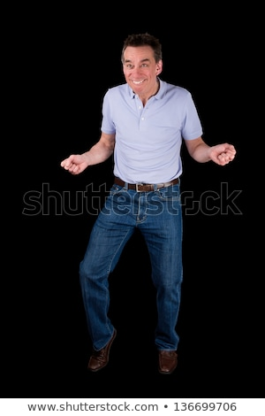 Funny Middle Age Man doing Silly Dance Stock photo © scheriton