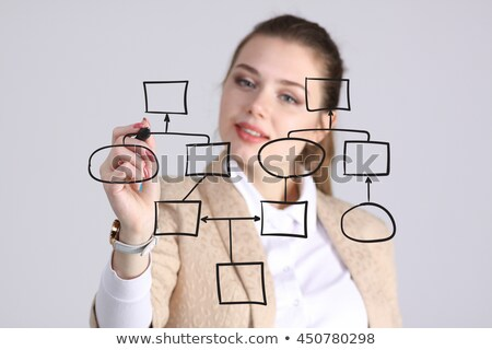 Woman drawing on flowchart with marker Stock photo © wavebreak_media