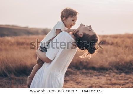 mamãe · filha · família · bebê · retrato · brinquedo - foto stock © dacasdo
