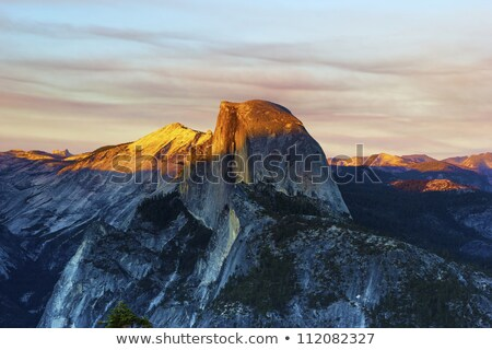 Panoramic view to Half Dome from Glacier Point in Yosemite Natio Stock photo © snyfer