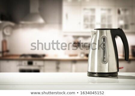 stufa · top · bollitore · cucina · panchina · acqua - foto d'archivio © kitch