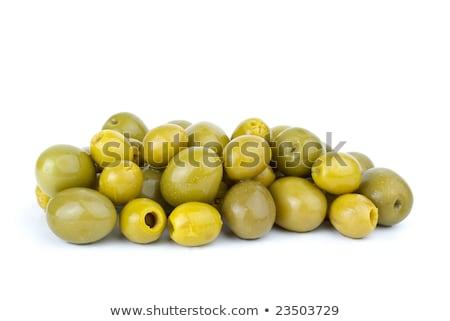 groene · olijven · geïsoleerd · witte · plantaardige - stockfoto © digitalr