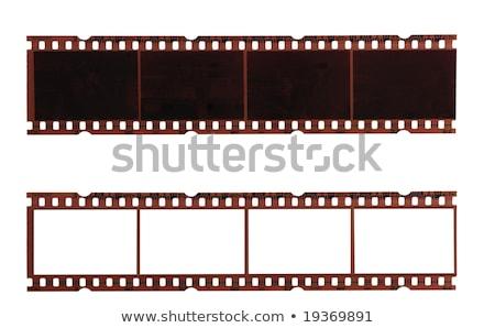 Stockfoto: Twee · bruin · negatieve · films · achtergrond · frame
