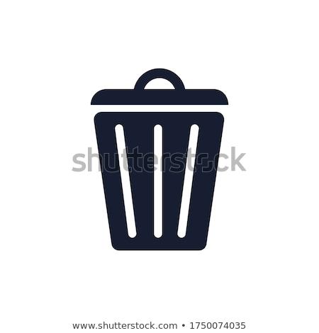 cesta · completo · isolado · branco · escritório · fundo - foto stock © doupix
