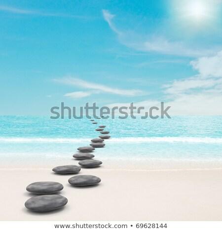 sable · pierres · eau · vague · plage · résumé - photo stock © ixstudio