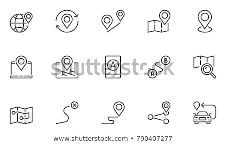 vector · stad · kaart · gps · iconen · business - stockfoto © carbouval