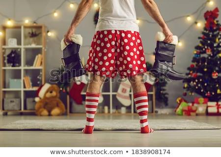 Boksör adam erkek savaşçı poz karanlık Stok fotoğraf © stokkete