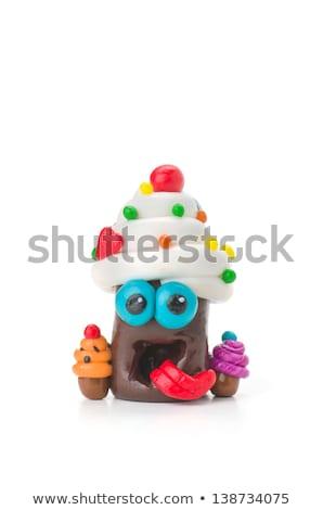 Handmade modeling clay figure with sweets Stock photo © Zerbor