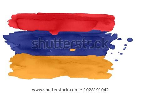 флаг Армения стороны цвета стране стиль Сток-фото © claudiodivizia