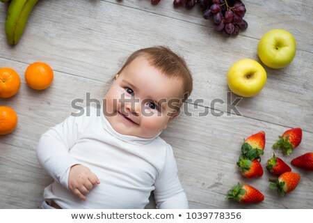 strawberry, baby food Stock photo © M-studio