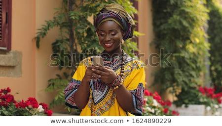 üzleti · út · fiatal · boldog · afroamerikai · nő · tok · első · osztály - stock fotó © photosebia
