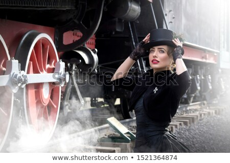 portrait of a beautiful girl in a corset Stock photo © evgenyatamanenko