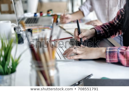 stylus and graphics tablet Stock photo © nito