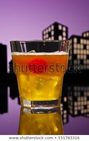 Metropolis cocktail gelukkig vruchten glas Stockfoto © 3523studio