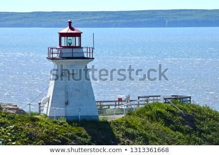 Deniz feneri uçurum plaj yeni ışık kum Stok fotoğraf © vlad_podkhlebnik