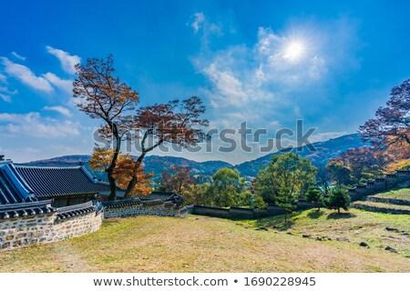 kale · duvar · duvarlar · bulutlar · yaz · mavi - stok fotoğraf © RAM