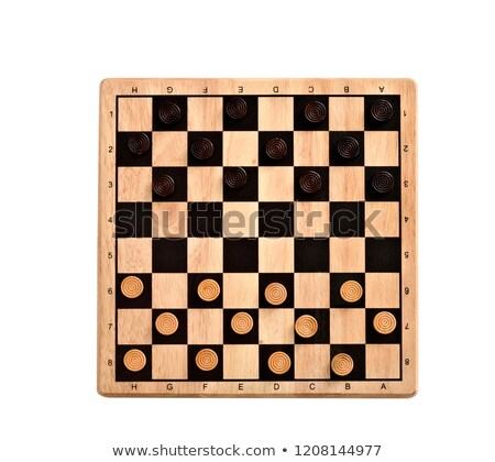 checkerboard with checkers spaced Stock photo © Mikko