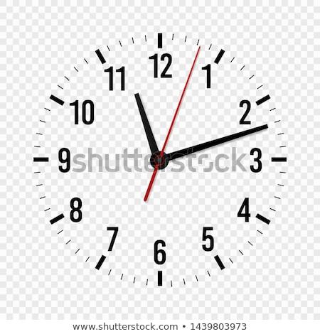 Modern óra jegyzőkönyv mutat precíz idő Stock fotó © ra2studio