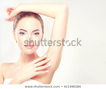 Armpit epilation hair removal woman showing armpits Stock photo © Maridav