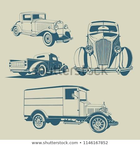 четыре · старые · автомобилей · автомобилей · такси · седан - Сток-фото © Miloushek
