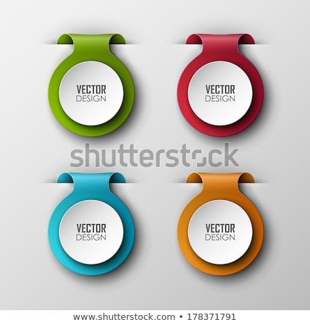 Conception de site web couleur papier étiquette bouton bar Photo stock © vipervxw