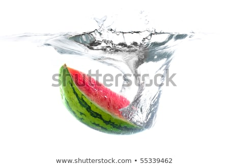 Stock photo: Waterfall and watermelon