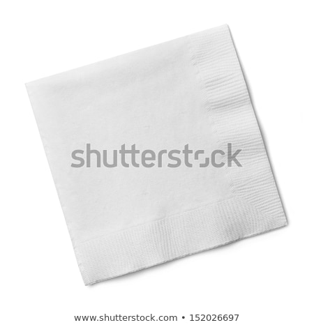 paper napkins isolated on white background stock photo © alinamd