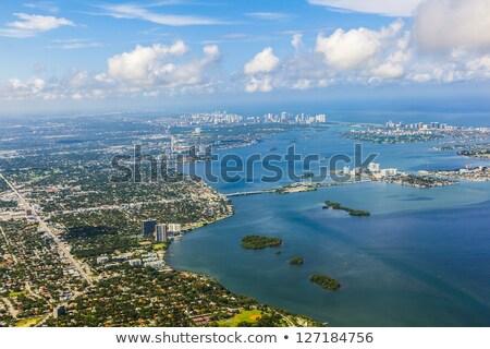 антенна · Майами · пляж · воды · город · свет - Сток-фото © meinzahn