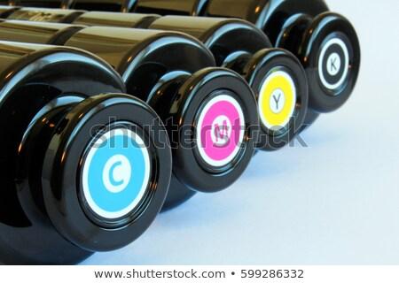 nyomtató · illusztráció · nyomtatott · fekete · szín · sajtó - stock fotó © photosoup