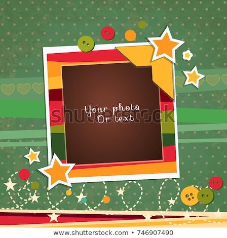 Wektora ramki tekstury streszczenie pomarańczowy Zdjęcia stock © myfh88