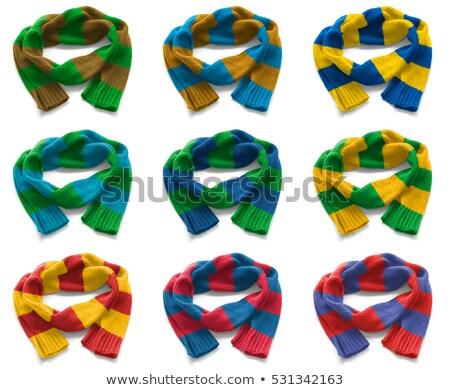 黄色 サッカー スカーフ 孤立した 白 3dのレンダリング ストックフォト © bayberry