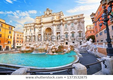 fountain di trevi in rome italy stock photo © joyr