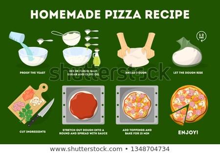 ピザ レシピ 材料 食品 花柄 切り ストックフォト © Lightsource