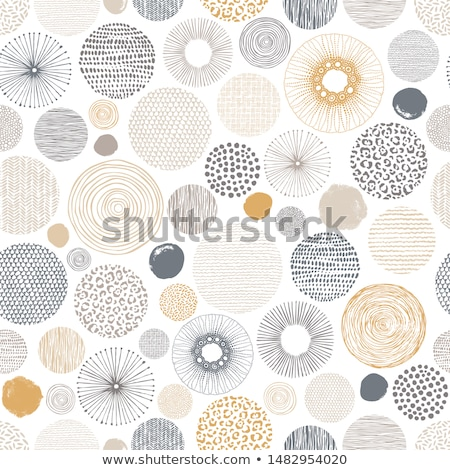 abstract brown floral background with round vector pattern stock photo © heliburcka
