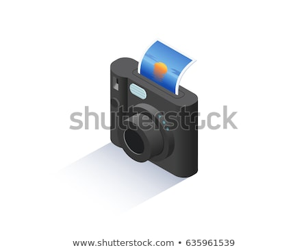 sightseeing photo camera vector stock photo © beaubelle