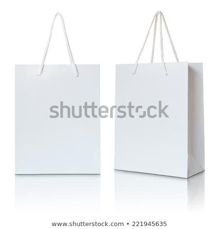 Сток-фото: подарок · сумку · изолированный · белый · фон · торговых