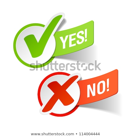 YES & NO Checmarks Stickers Stock photo © liliwhite